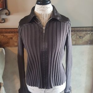Cabi long sleeve zip up sweater